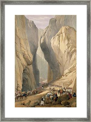 Entrance To The Bolan Pass From Dadur Framed Print