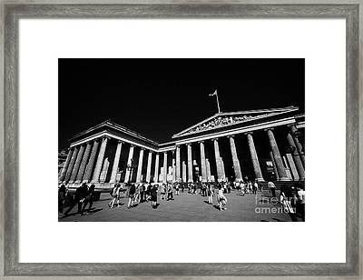 entrance to the british museum London England UK Framed Print