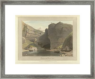 Entrance To The Cave Of Smooe Framed Print by British Library