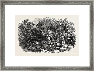Entrance To The Coalmine Of Heraclea On The Black Sea Framed Print