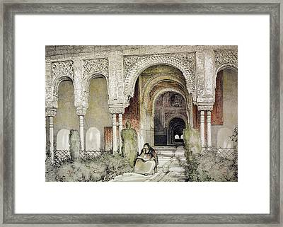 Entrance To The Hall Of The Two Sisters Framed Print by John Frederick Lewis