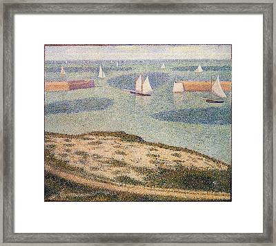 Entrance To The Harbor Framed Print by Georges Seurat