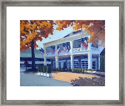 Entrance To The Inn Framed Print