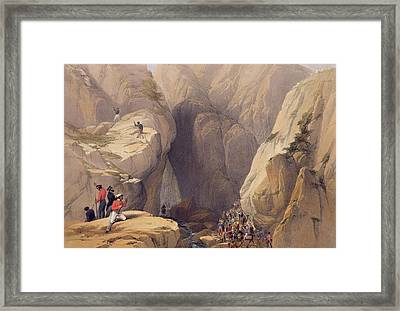 Entrance To The Kojak Pass From Parush Framed Print by James Atkinson