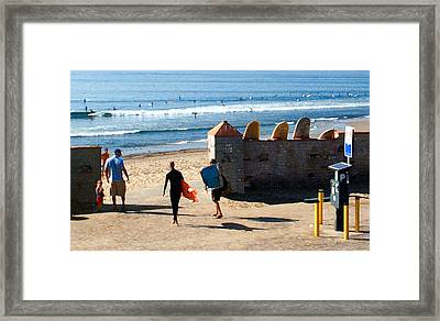 Entrance To The Lineup Framed Print