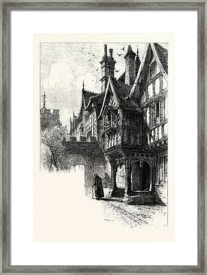 Entrance To The Porch Of Leicesters Hospital, Warwick, Uk Framed Print