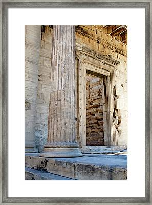 Entrance To The Temple Of The Athena Nike Framed Print