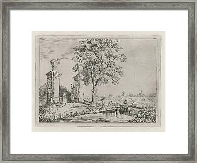 Entrance To The Villa Nooit Gedacht, Eberhard Cornelis Rahms Framed Print by Eberhard Cornelis Rahms