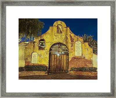 Entrance To The Vineyard Framed Print