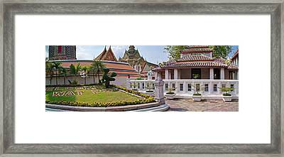 Entrance To Wat Pho Temple, Bangkok Framed Print by Panoramic Images