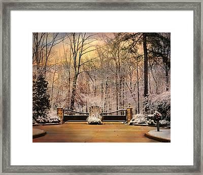 Entrance To Winter Framed Print by Jai Johnson