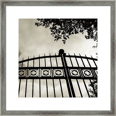 Framed Print featuring the photograph Entrances To Exits - Gates by Steven Milner