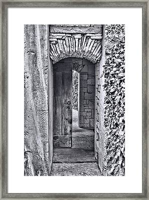 Entrancing Entrance In Monochrome Framed Print by Delilah Downs