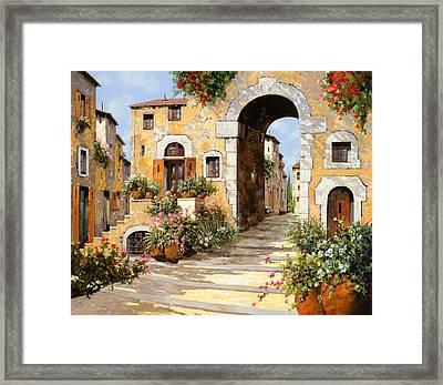 Entrata Al Borgo Framed Print