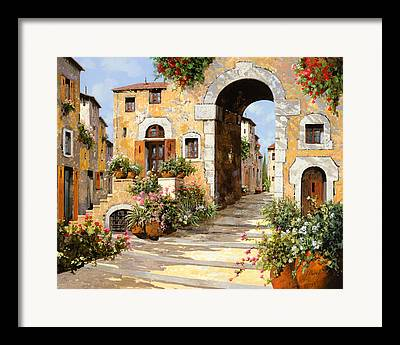Entrance Door Paintings Framed Prints