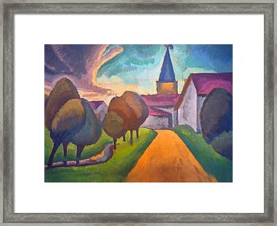 Entree Village Framed Print