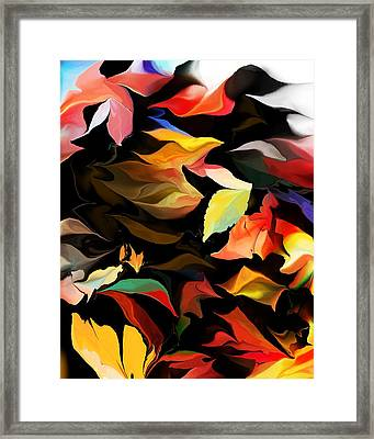 Framed Print featuring the digital art Entropic Dance Of The Salamander First Snow.  by David Lane