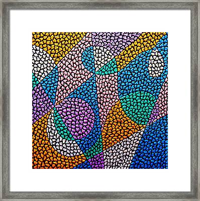 Entropical Evolution Ix Framed Print by Kruti Shah