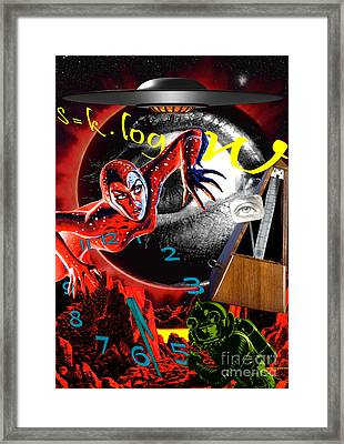 Framed Print featuring the digital art Entropy At The End Of Time by Sasha Keen