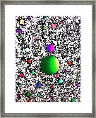 Entropy Color Variation 2 Framed Print by Devin  Cogger