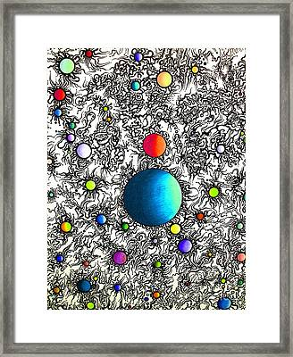 Entropy Color Variation 3 Framed Print by Devin  Cogger