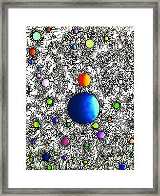 Entropy Color Variation 4 Framed Print by Devin  Cogger