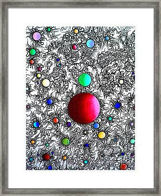 Entropy Color Variation 6 Framed Print by Devin  Cogger