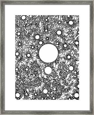 Entropy Colorless Framed Print by Devin  Cogger