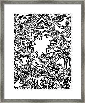 Entropy Colorless Variation 1 Framed Print by Devin  Cogger