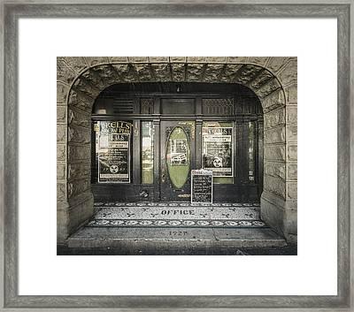 Entry Framed Print by Akos Kozari