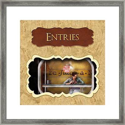 Entry - Doors And Windows Button Framed Print