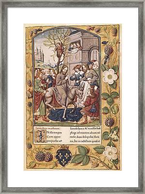 Entry Of Christ Into Jerusalem. Page Framed Print by Everett