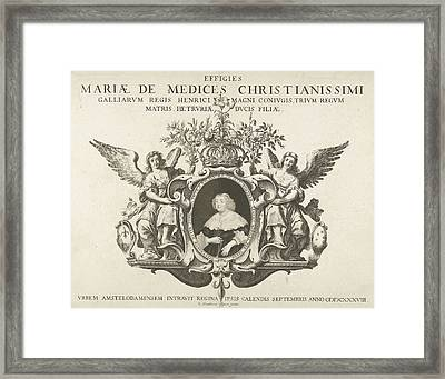 Entry Of Maria De Medici In Amsterdam Portrait Framed Print by Pieter Holsteyn (ii) And Pieter Nolpe