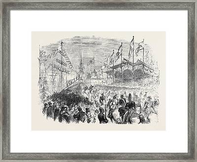 Entry Of The King Of Prussia Into Knigsberg The Procession Framed Print by English School