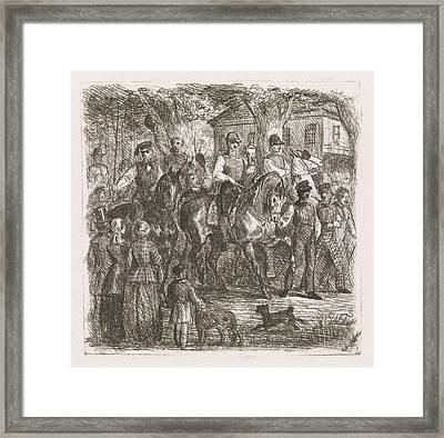 Entry Of The Winners, Print Maker Willem De Famars Testas Framed Print