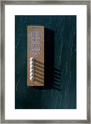 Entry Phone 1 Framed Print by RicardMN Photography