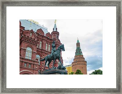 Entry To Red Square - Moscow Russia Framed Print by Jon Berghoff