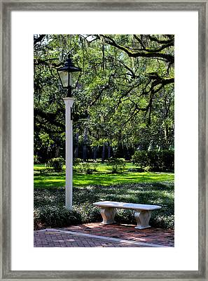 Entry To The Garden Framed Print by William Tucker