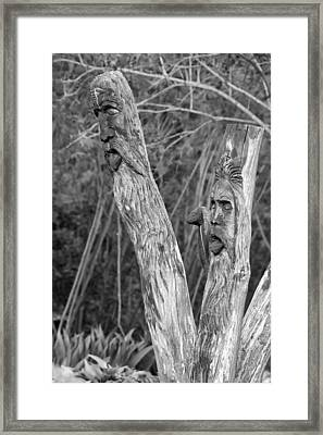 Ents 2 Monochrome Framed Print by Steve Harrington