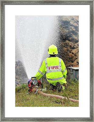 Environmental Fire Services Framed Print by Public Health England