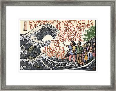 Environmental Justice Framed Print by Ricardo Levins Morales