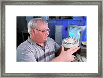 Environmental Nitrogen Analysis Framed Print