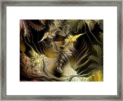 Framed Print featuring the digital art Environmental Transitions 5 by Casey Kotas