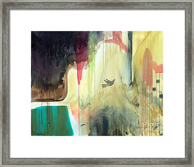 Framed Print featuring the painting Envisage by Robin Maria Pedrero