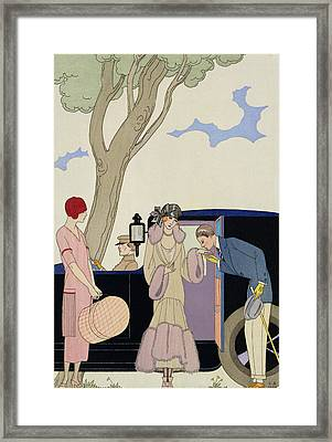 Envy Framed Print by Georges Barbier