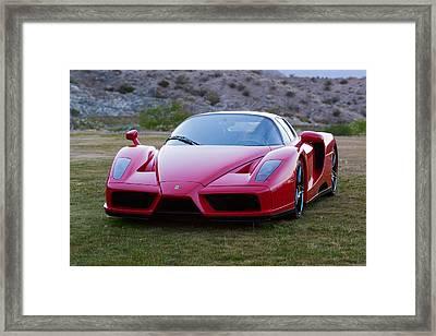 Enzo Ferrari Classic Cut Framed Print by Scott Campbell