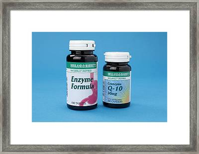 Enzyme Food Supplements Framed Print by Trevor Clifford Photography