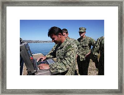 Eod Members Operate A Remote Controlled Framed Print