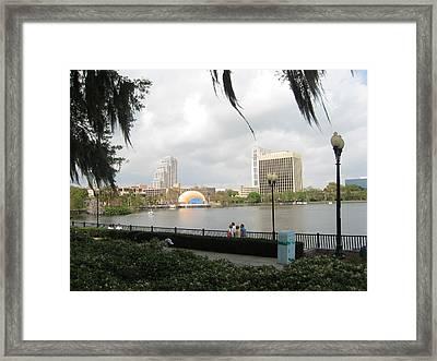 Eola Park In Orlando Framed Print