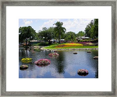 Epcot Center Flower Festival 1 Framed Print